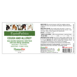 HomeoVet Equio Cough And Allergy label
