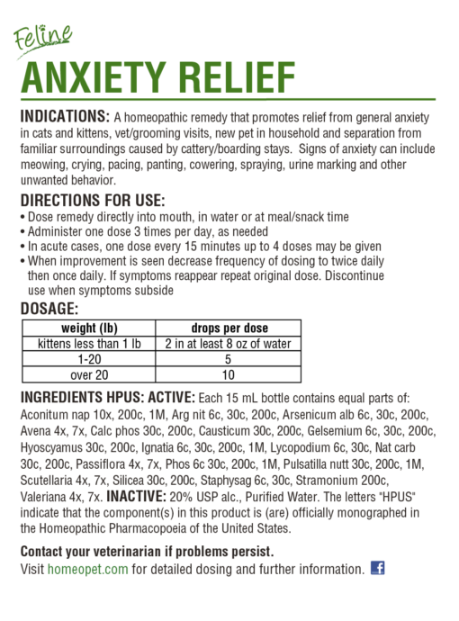 HomeoPet Feline Anxiety Relief