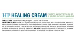 HomeoPet HP Healing Cream box back