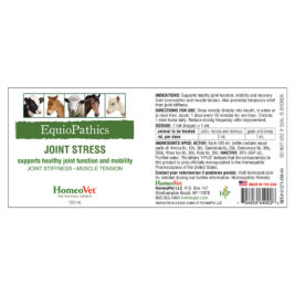 HomeoVet Equio Joint Stress label