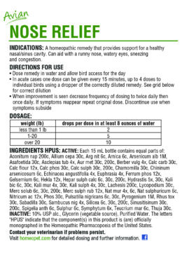 AVIAN NOSE RELIEF - HomeoPet