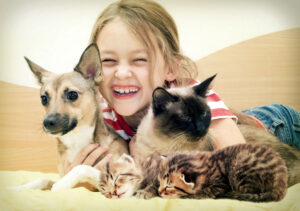 girl-with-pets