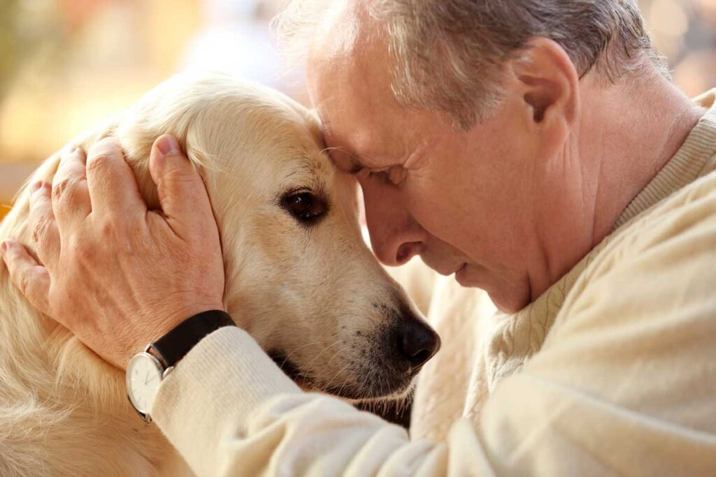 older-man-with-dog